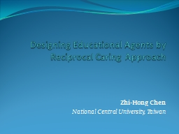 Designing Educational Agents by Reciprocal Caring Approach