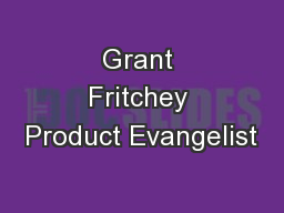 Grant Fritchey Product Evangelist PowerPoint PPT Presentation
