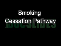 Smoking Cessation Pathway