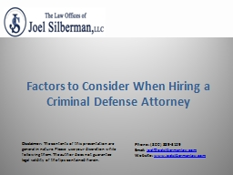 Factors to Consider When Hiring a Criminal