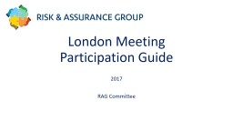 London Meeting Participation Guide