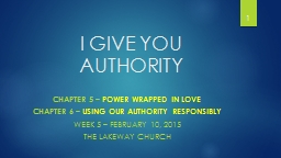 I Give You Authority Chapter 5 –