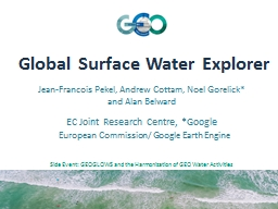 Global Surface Water Explorer