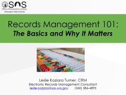 Records Management 101: The Basics and Why It Matters