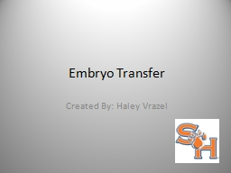 Embryo Transfer Created By: Haley