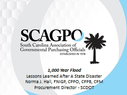 1,000 Year Flood Lessons Learned After A State Disaster PowerPoint PPT Presentation