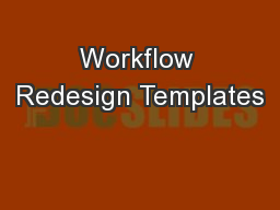 Workflow Redesign Templates