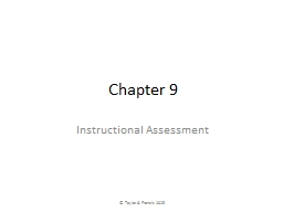 Chapter 9 Instructional Assessment