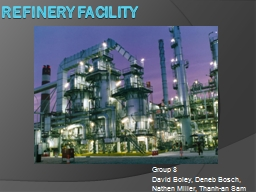 Refinery facility Group 8