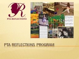 PTA Reflections program What is reflections?
