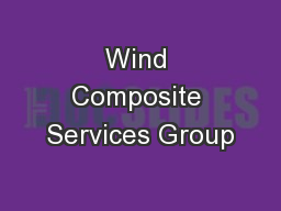 Wind Composite Services Group