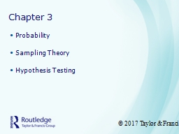 Chapter 3 Probability Sampling Theory