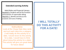 Extended Learning Activity PowerPoint PPT Presentation