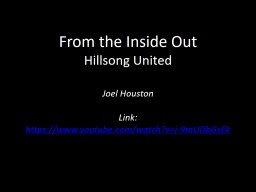 From the Inside Out Hillsong