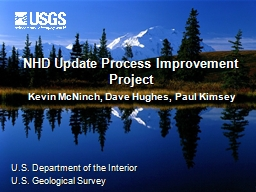 NHD Update Process Improvement Project
