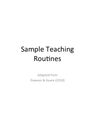 Sample Teaching Routines PowerPoint PPT Presentation