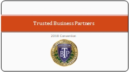 2018 Convention Trusted Business Partners