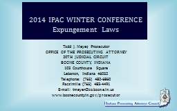 2014 IPAC WINTER CONFERENCE