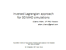 Inversed  Lagrangian  approach