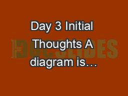 Day 3 Initial Thoughts A diagram is…