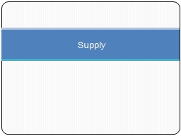 Supply Supply Supply:  is the relationship between the various possible prices of a good and the qu