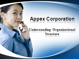 Appex Corporation Understanding Organizational Structure
