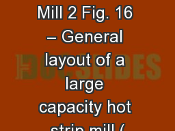 Hot Rolling Mill 2 Fig. 16 – General layout of a large capacity hot strip mill ( PowerPoint PPT Presentation