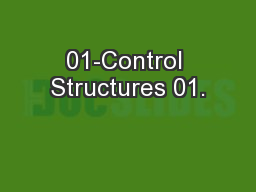 01-Control Structures 01.