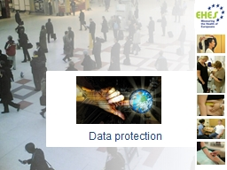 Data protection Based on EHES Manual, Part A. Planning and preparation of the survey, 2