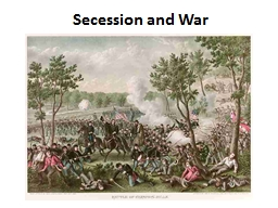 Secession and War The Northwest Ordinance of 1787