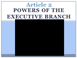 Powers of the executive branch