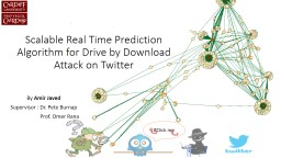 Scalable Real Time Prediction Algorithm for Drive by Download Attack on Twitter PowerPoint PPT Presentation