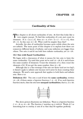 CHAPTER  Cardinality of Sets his chapter is all about