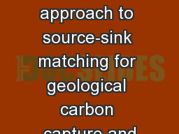 Systematic  approach to source-sink matching for geological carbon capture and