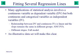 Xuhua Xia Fitting Several Regression Lines