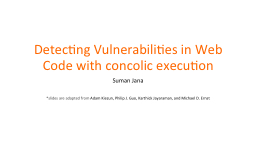 Detecting Vulnerabilities in Web Code with PowerPoint PPT Presentation