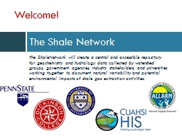 The Shale Network The  ShaleNetwork