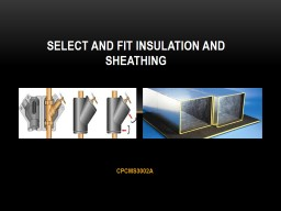 CPCMS3002A SELECT AND FIT INSULATION AND SHEATHING