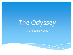 The Odyssey Pre-reading Notes