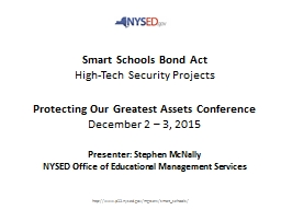 Smart Schools Bond Act High-Tech Security Projects