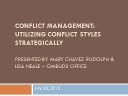 Conflict Management: Utilizing Conflict Styles Strategically