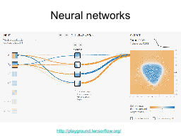 Neural networks http ://playground.tensorflow.org/