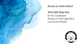 Access to Justice Board 2018–2020 State Plan