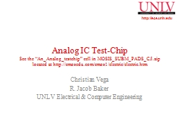 Analog IC  Test-Chip See the ""