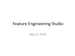 Feature Engineering Studio