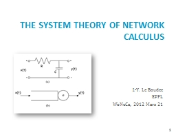 The System Theory of Network Calculus