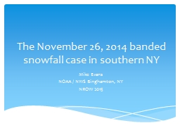 The November 26, 2014  banded snowfall case in southern NY