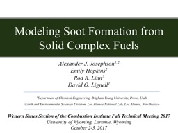 Modeling Soot Formation from Solid Complex Fuels
