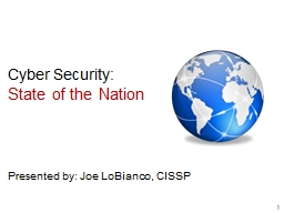 Cyber Security: State of the Nation