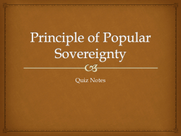 Principle of Popular Sovereignty
